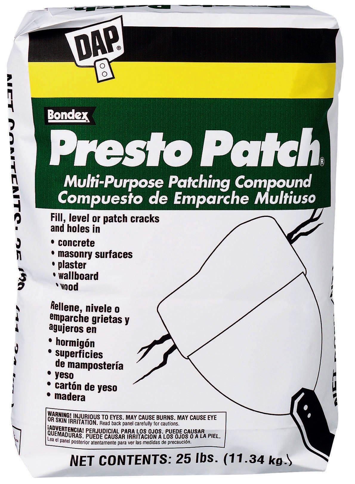 Dap 58552 Presto Patch Multi Purpose Patching Compound 25-Pound
