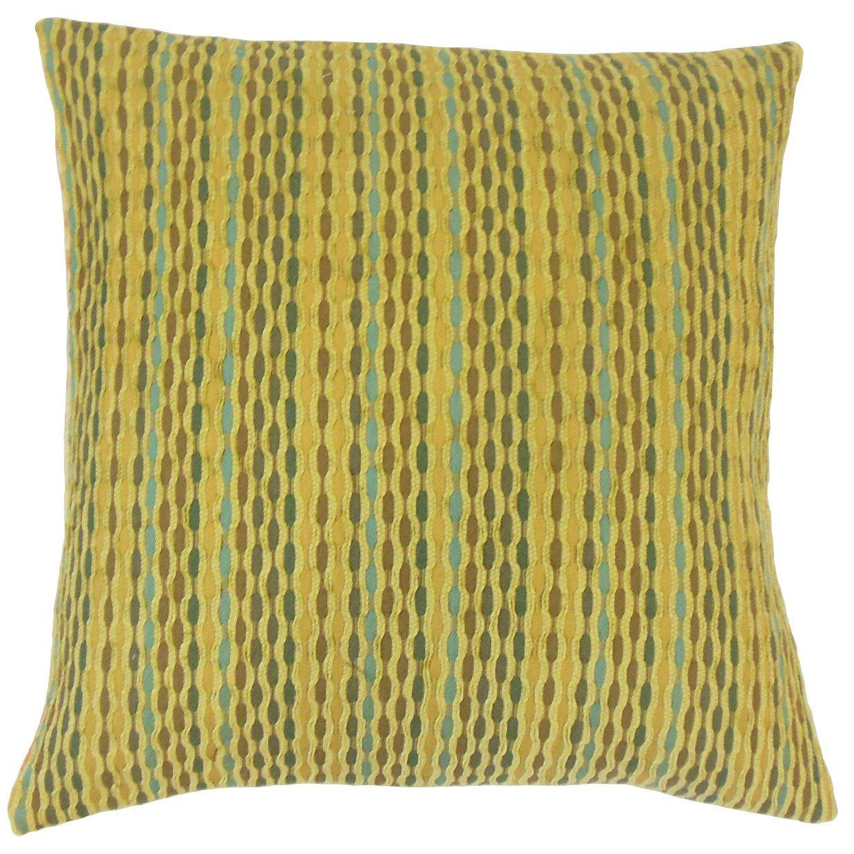 The Pillow Collection Caroun Stripes Throw Pillow Cover Kelp