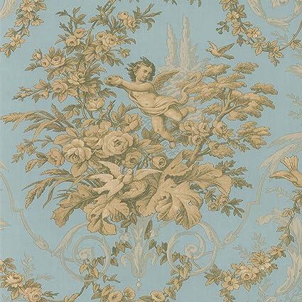 Norwall Ch28309 Fabric Toile Wallpaper Amazon Com