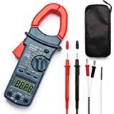 AstroAI Digital Clamp Meter, TRMS 6000 Counts Multimeter Volt Meter with Manual and Auto Ranging; Measures Voltage…