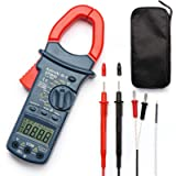 AstroAI Digital Clamp Meter, TRMS 6000 Counts Multimeter Volt Amp Ohm Meter with Manual and Auto Ranging, Continuity…