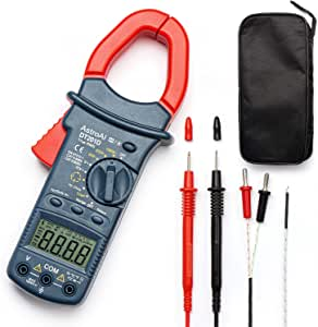 AstroAI Digital Clamp Meter, TRMS 6000 Counts Multimeter Volt Meter with Manual and Auto Ranging; Measures Voltage Tester, Current, Resistance, Continuity, Frequency; Tests Diodes, Temperature