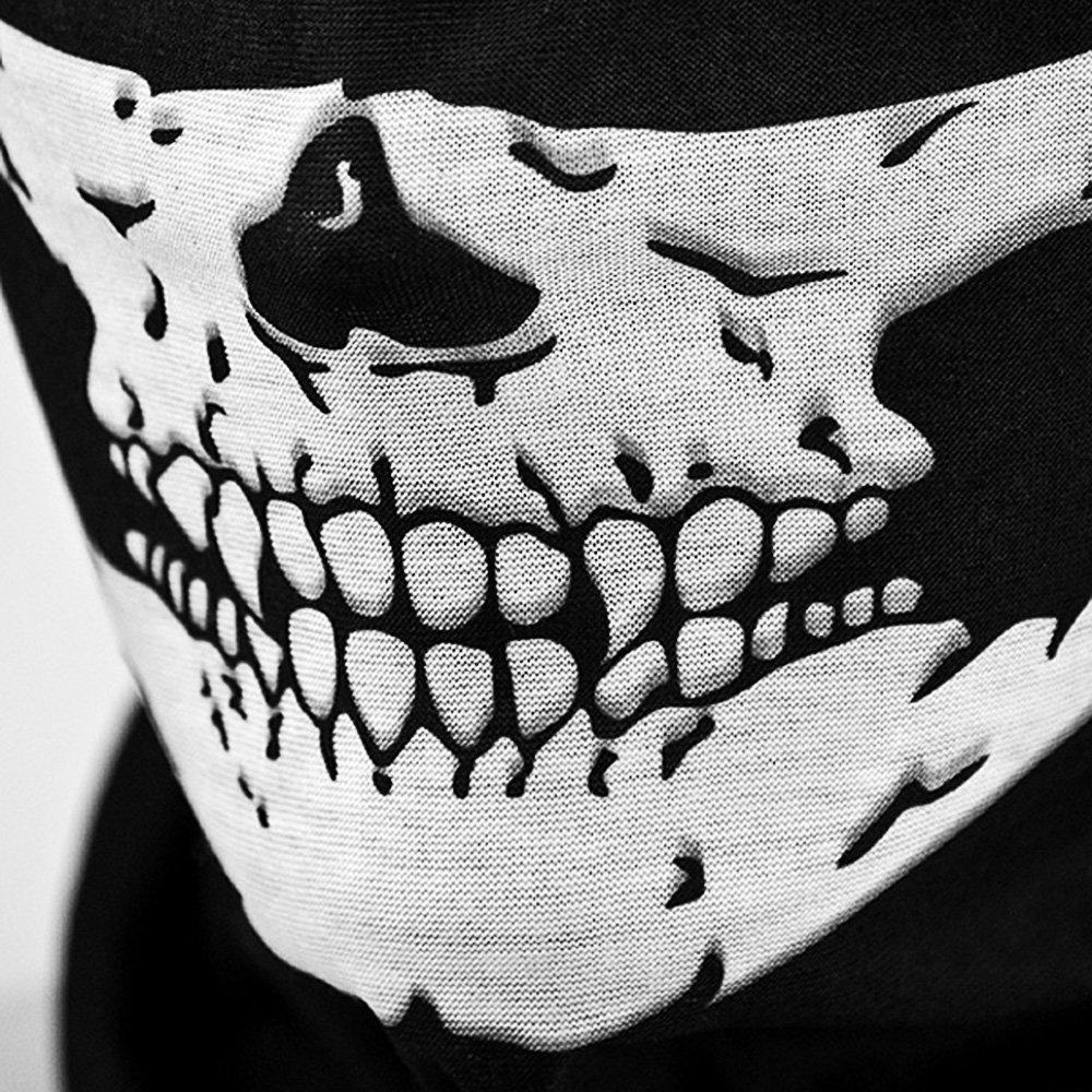 WAWO Whobabe Skeleton Skull Bandana Snowboard Esqu/¨/ª Motocicleta Bicicleta Rave Paintball Mask