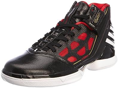 b2d7be218268 Adidas - adiZero Rose 2 - Coleur  Black-Red - Taille  47.3  Amazon ...