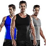 DRSKIN 1~3 Pack Undershirts Running Shirt Tank Tops Men's Cool Dry Compression Baselayer Sleeveless (NM-TA-(B,G,BL), XL)