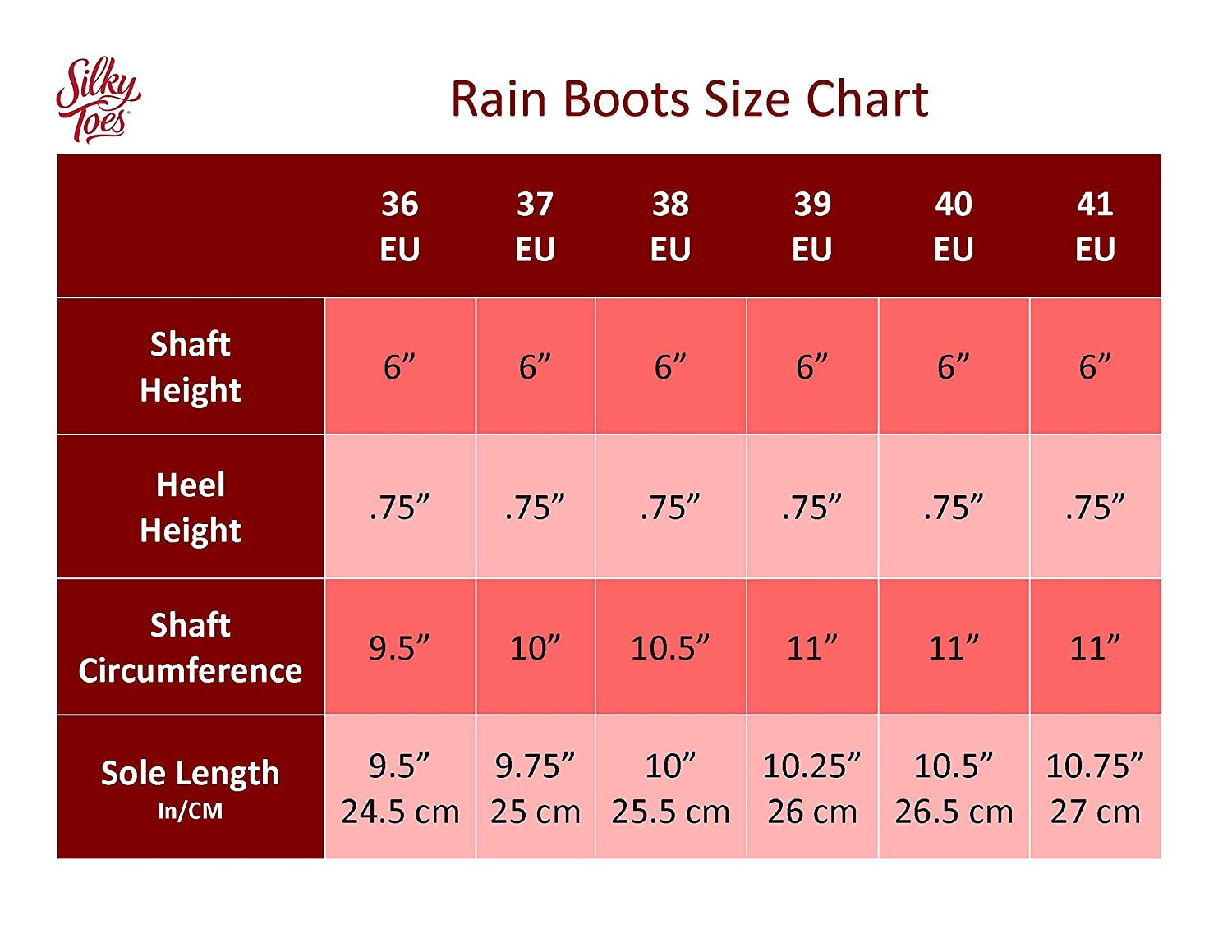 Silky Toes Women's Fashion Elastic Slip On Short Rain Boots B01IDXLC8E 38 M EU|Red