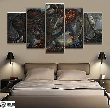 Amazon.com: AIXYX - Cuadro de lienzo modular para decoración ...