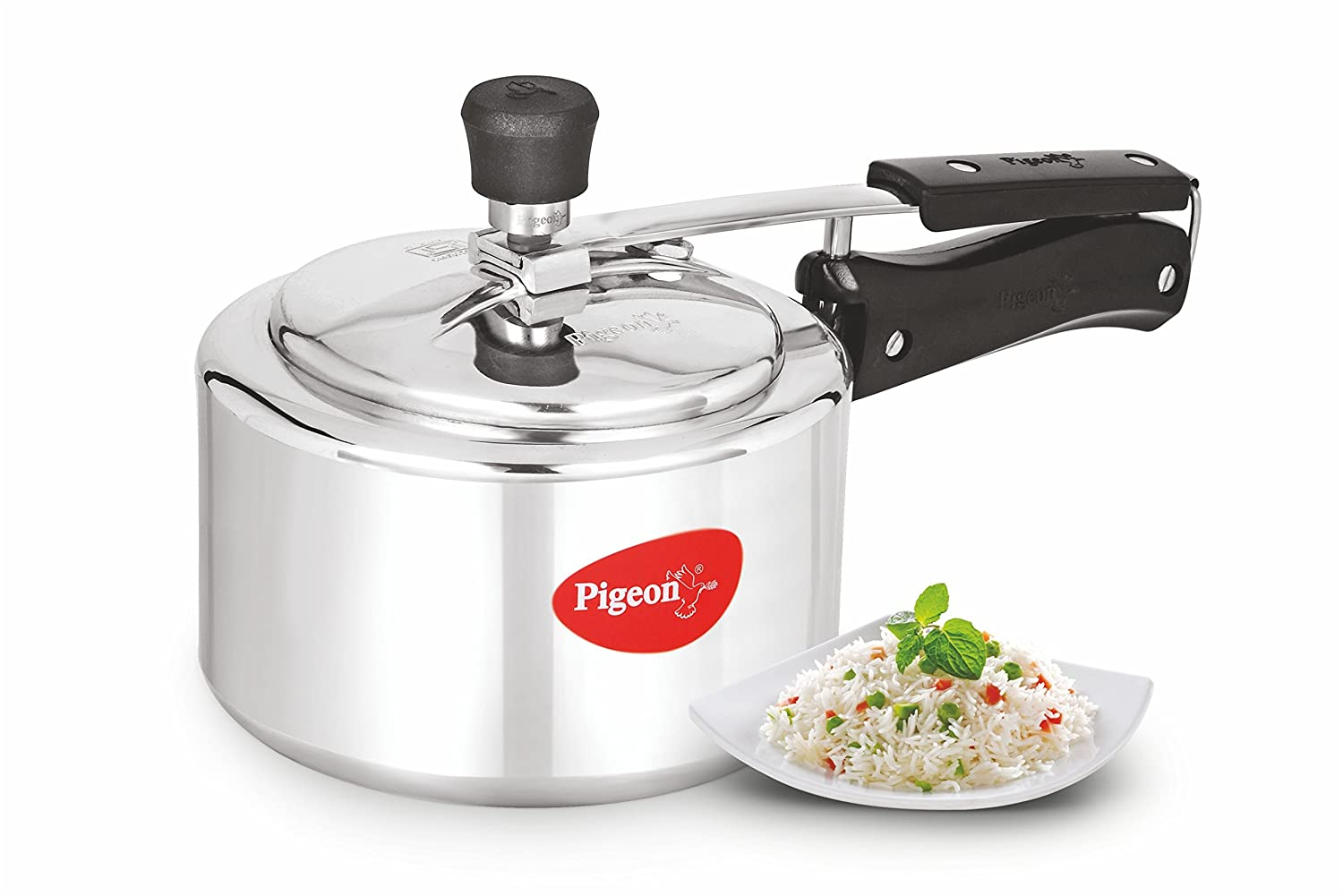 Buy Pigeon Classic Aluminium Pressure Cooker With Inner Lid 3 Signora Snack Maker Litres Online At Low Prices In India