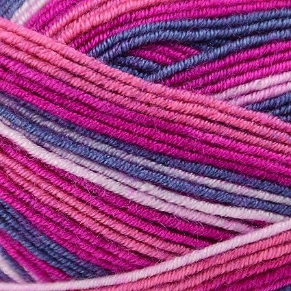 505af2744fd Amazon.com  Premier Yarns Wool-Free Sock Stripes Yarn-Berry Bush ...