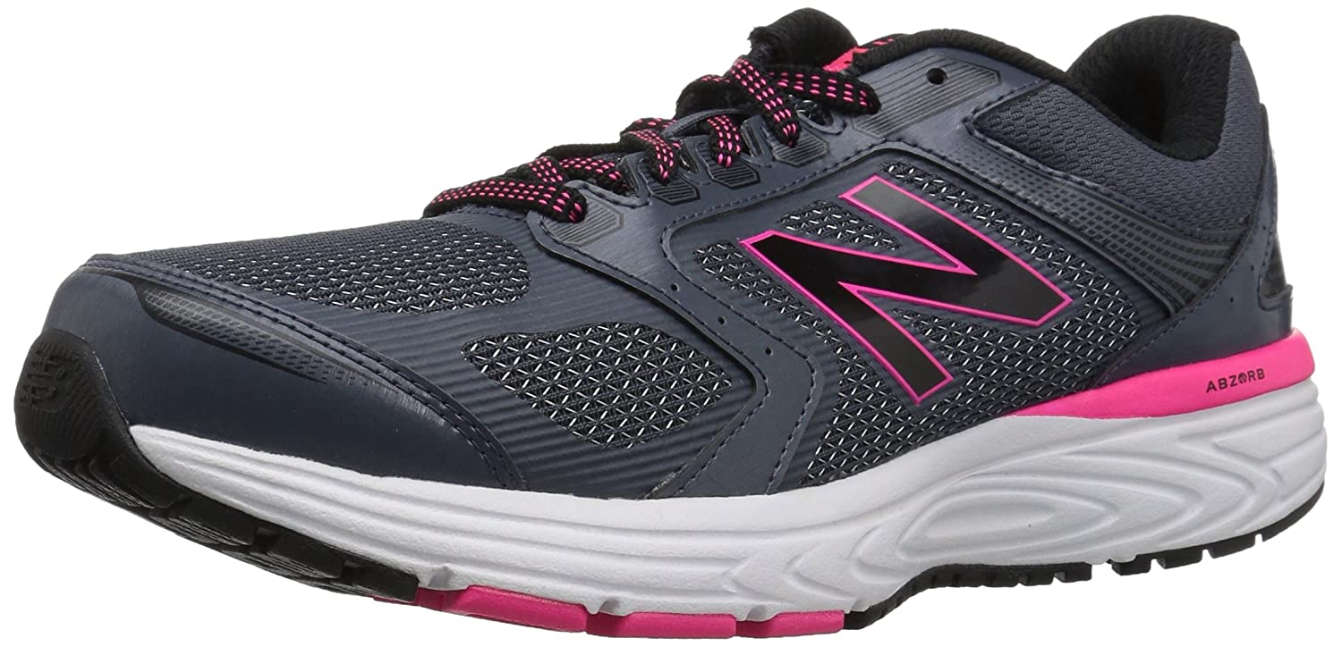 New Balance Women's W560v7 Cushioning Running Shoe B01NAMVM1C 6 B(M) US|Grey/Black