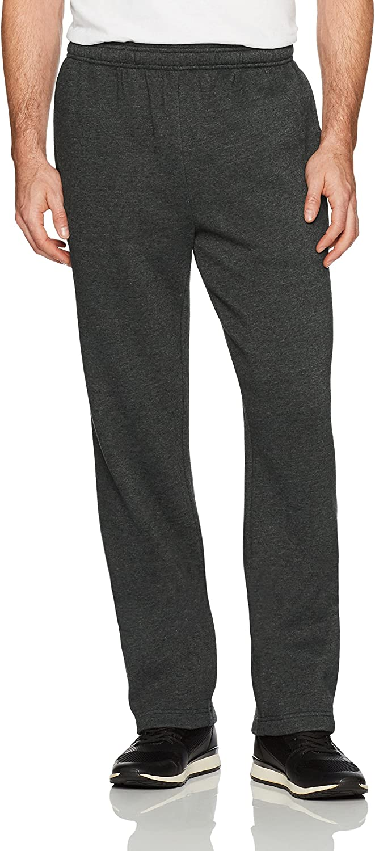 Essentials Men's Fleece Sweatpants, Light Grey Heather, X-Small: Clothing