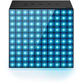 AuraBox Divoom Personalisierbarer Bluetooth Lautsprecher mit animiertem LED Display, Freisprecheinrichtung, Wecker, Benachrichtigungssystem und Temperatur Anzeige für Smartphone