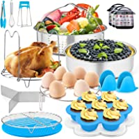 17 Pcs Pressure Cooker Accessories, P&P CHEF Blue Steamer Accessory Set for Cooking Steaming Serving - Steamer Basket…