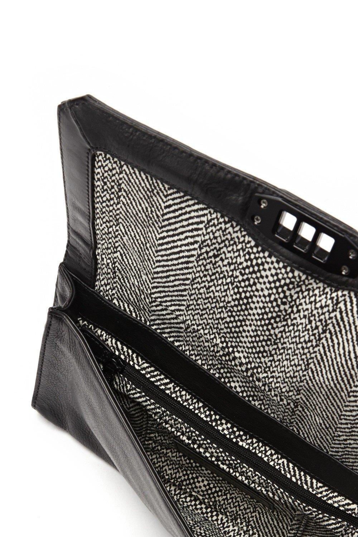 Rebecca Minkoff Love Quilted Patent Leather Turn-Lock Clutch Bag, Black