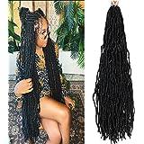 36 Inch New Faux Locs Crochet Braids 6 Packs Pre-looped Dreadlock Hair Extensions Handmade Synthetic Soft Locs Braiding Hair