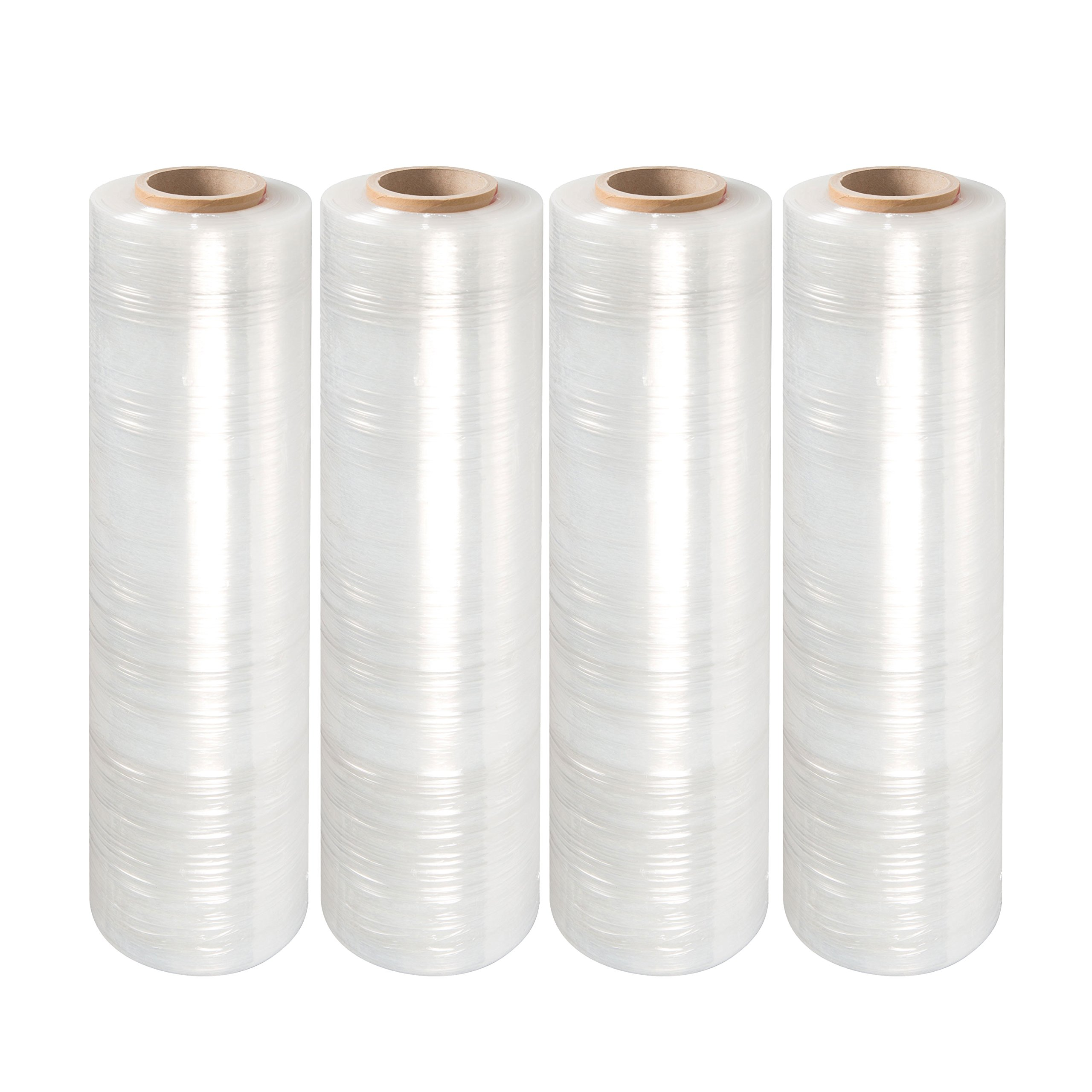 LTB 2070 Stretch Wrap Film, 70 Gauge, 18'' x 1500 Ft Per Roll, Clear (Pack of 4) by LTB MFG (Image #1)