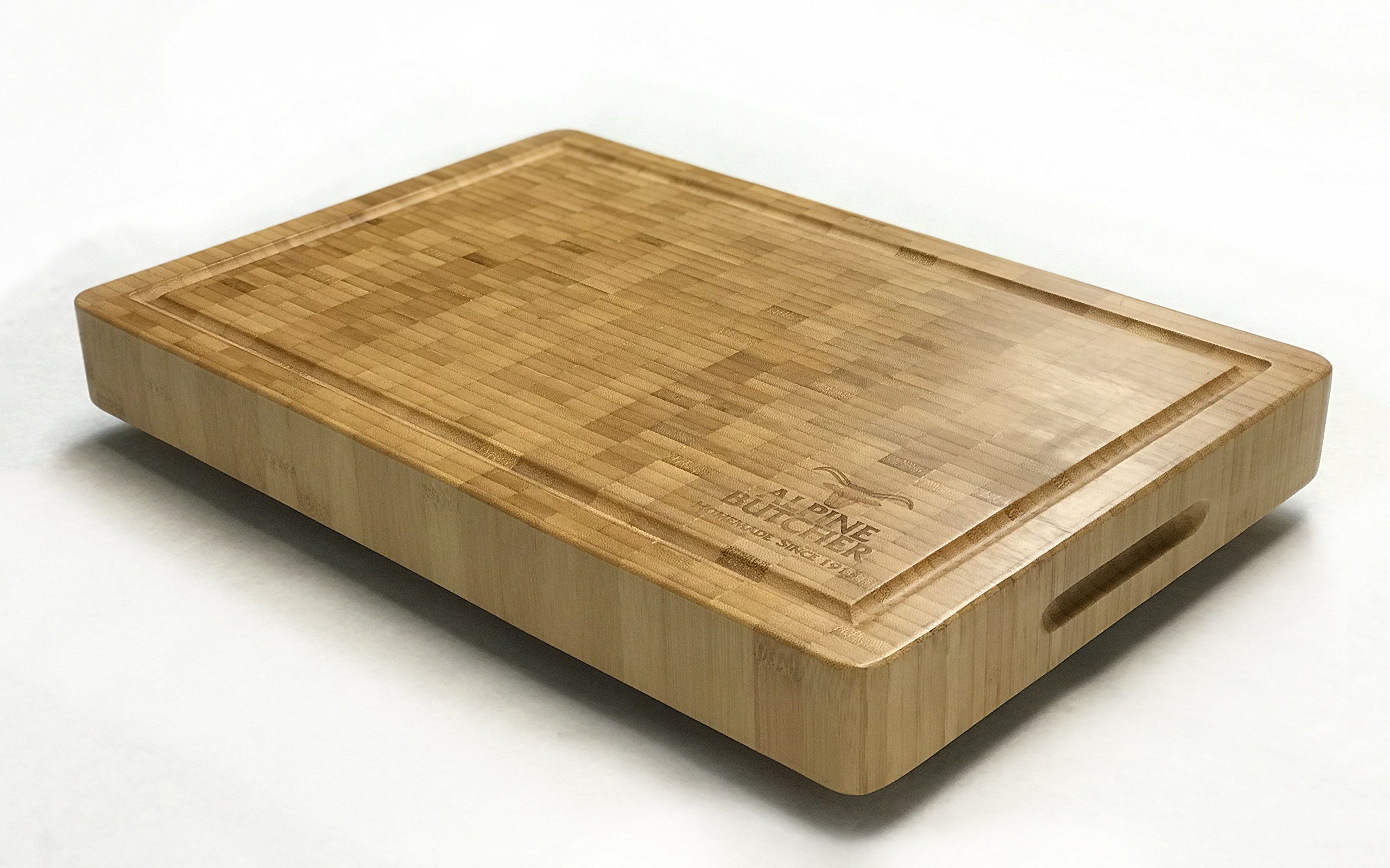 Alpine Butcher - Old Fashioned Solid Butcher Block with Wooden Feet