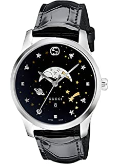 054247e802e Amazon.com  Gucci G-Timeless Black with Stars and Planet Motifs Dial ...