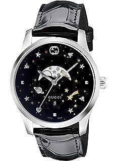 2dedf2bcc82 Amazon.com  Gucci G-Timeless Blue Motifs Dial Mens Watch YA126328 ...