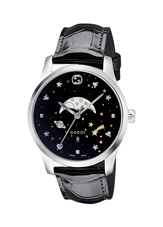 992cf086bc0 Amazon.com  Gucci G-Timeless Black Motifs Dial Mens Watch YA126327  Watches