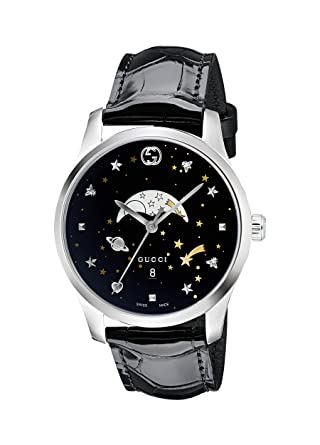 65b70800b80 Image Unavailable. Image not available for. Color  Gucci G-Timeless Black  Motifs Dial Mens Watch YA126327