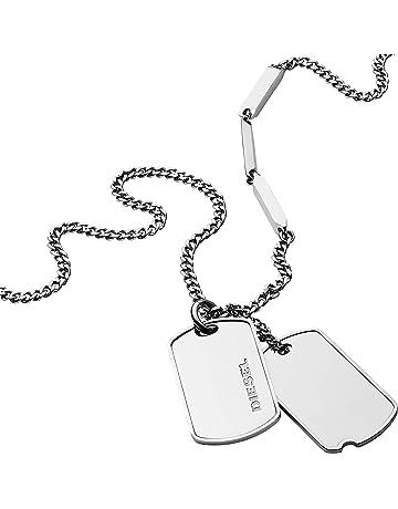 41f68abaf5d Diesel Men Stainless Steel Pendant Necklace - DX1173040