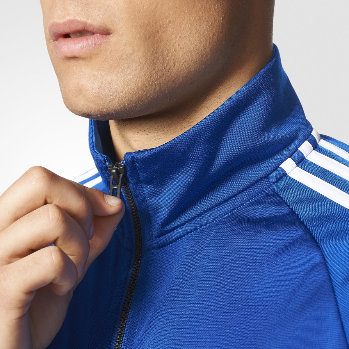 adidas Essentials 3S Tricot Track Jacket Men's All Sports S Collegiate Royal-White by adidas (Image #4)