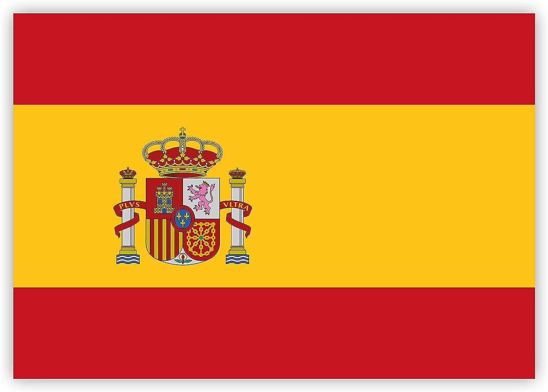 HouseholdBasics Pegatina Bandera de España, 7,4 x 5,2 cm para Interior y Exterior: Amazon.es: Coche y moto