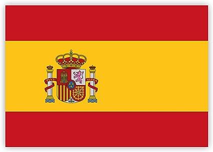 HouseholdBasics Pegatina Bandera de España, 7,4 x 5,2 cm para ...