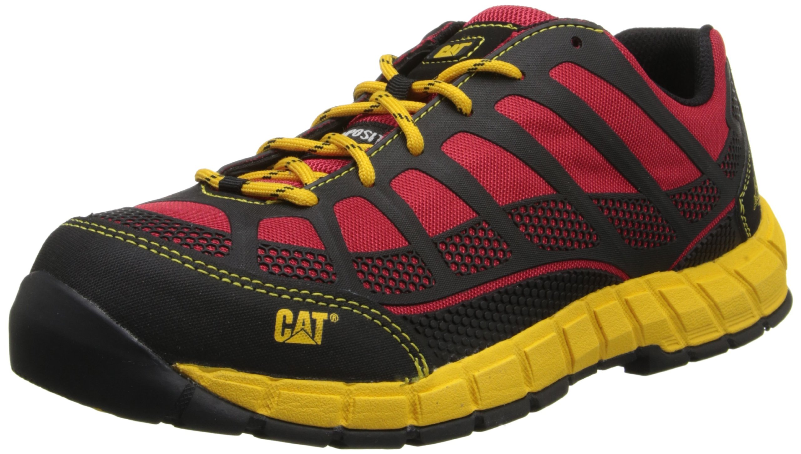 Caterpillar Men's Streamline Comp Toe Running Shoe,Red/Yellow,10 M US