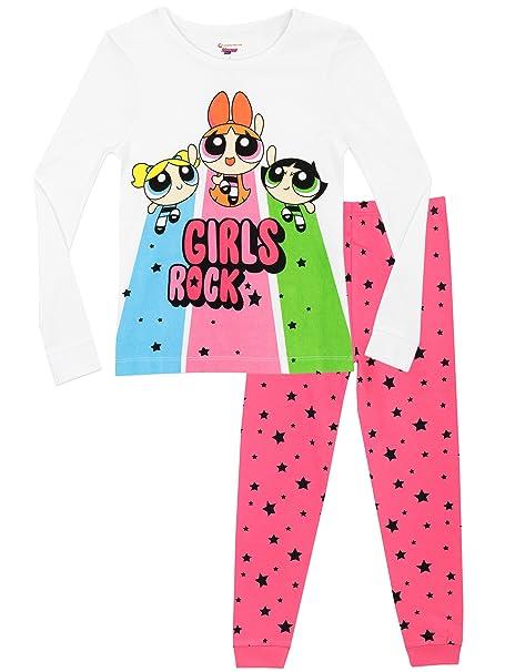 Powerpuff Girls - Pijama para niñas - Powerpuff Girls - Ajuste Ceñido - 11 - 12