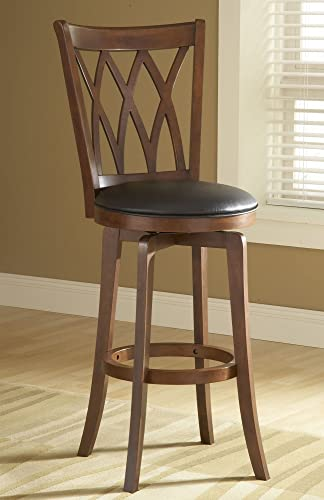 Hillsdale Furniture Mansfield Swivel Stool in Brown Cherry Counter Stool