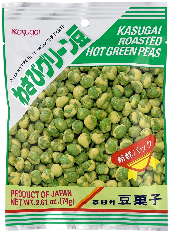 Kasugai Roasted Hot Green Wasabi Mame (Green Peas), 3.06 Ounce Units (Pack of 20) by Kasugai