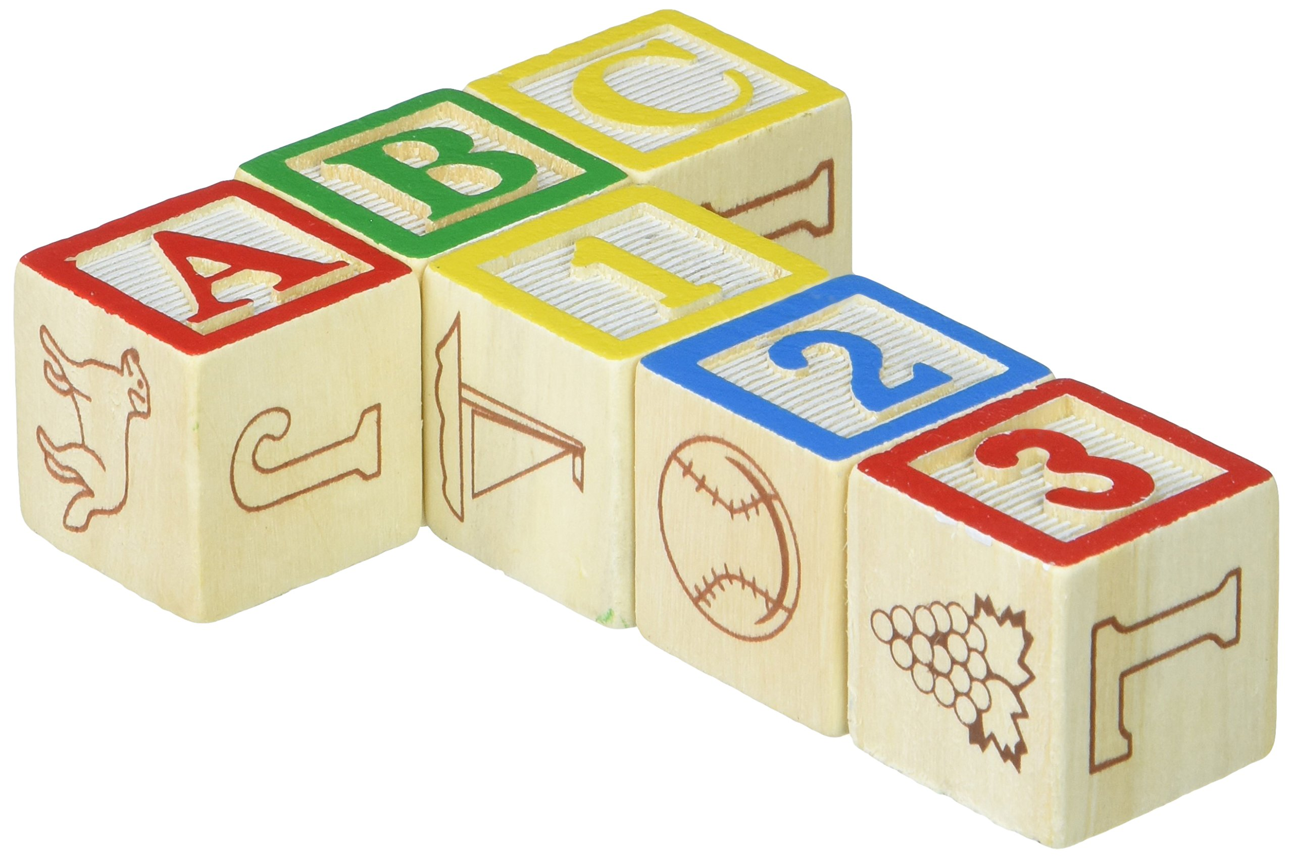 5 Pack MELISSA & DOUG WOODEN ABC/123 BLOCKS