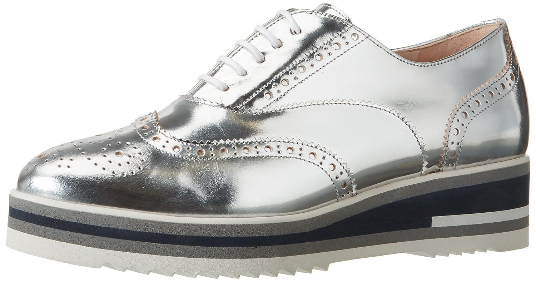 Peter Kaiser Elli, Zapatos de Cordones Brogue para Mujer 37 EU|Grau (Silber Chio Notte Sohle 873)