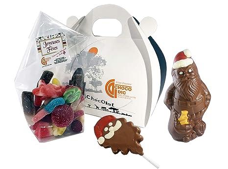 Estuche de Navidad con forma de corazón relleno de chocolate para niños