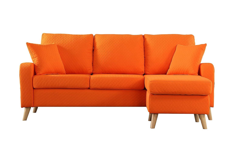Unique Amazon.com: Divano Roma Furniture Mid Century Modern Linen Fabric  KF96
