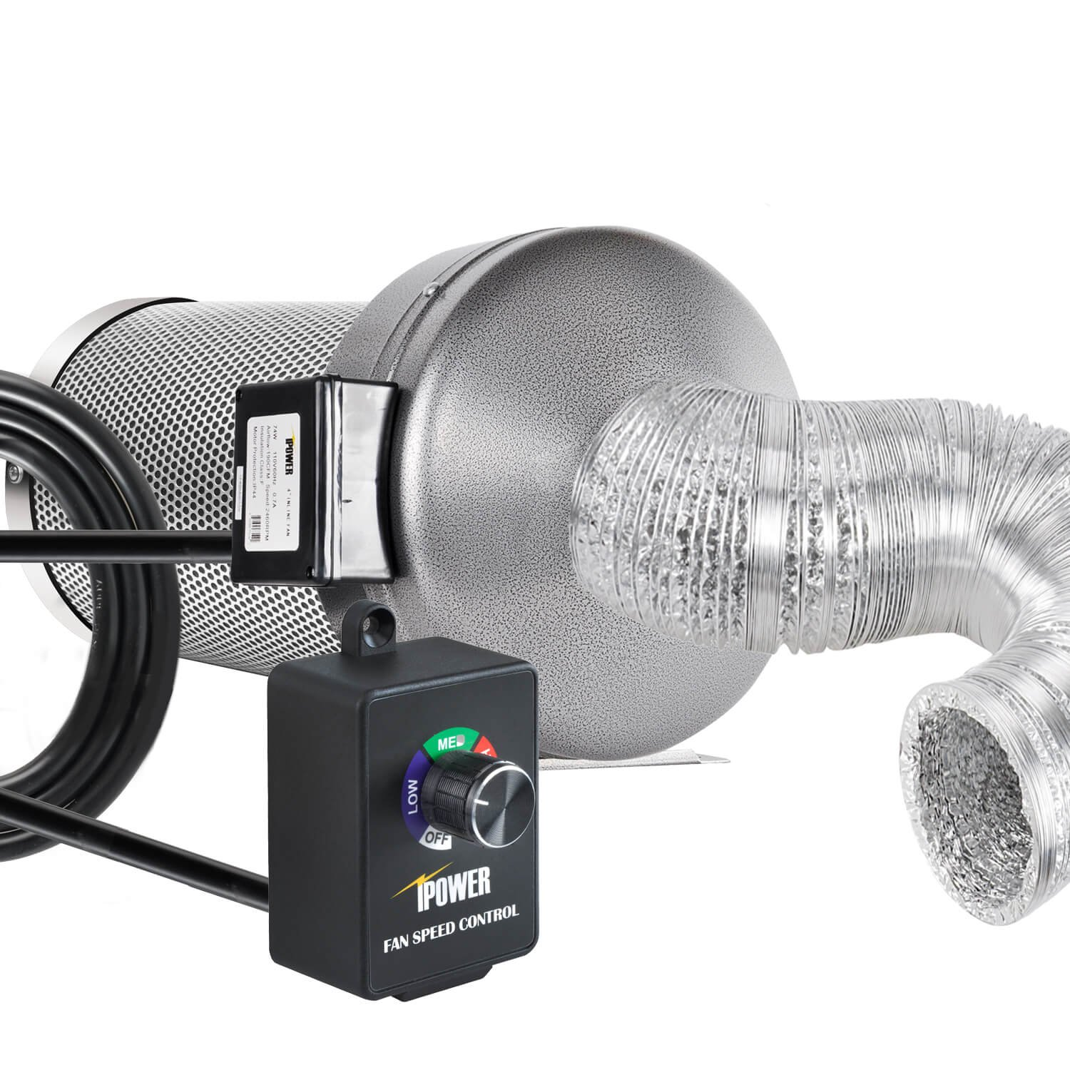 iPower Variable Vent Controller Inline Duct Fan Speed Adjuster, Max 350W