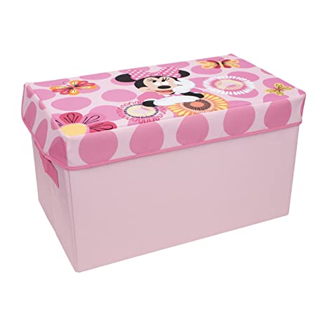 Minnie Mouse Collapsible Kids Toy Storage Chest By Disney   Flip Top Toy  Organizer Bin