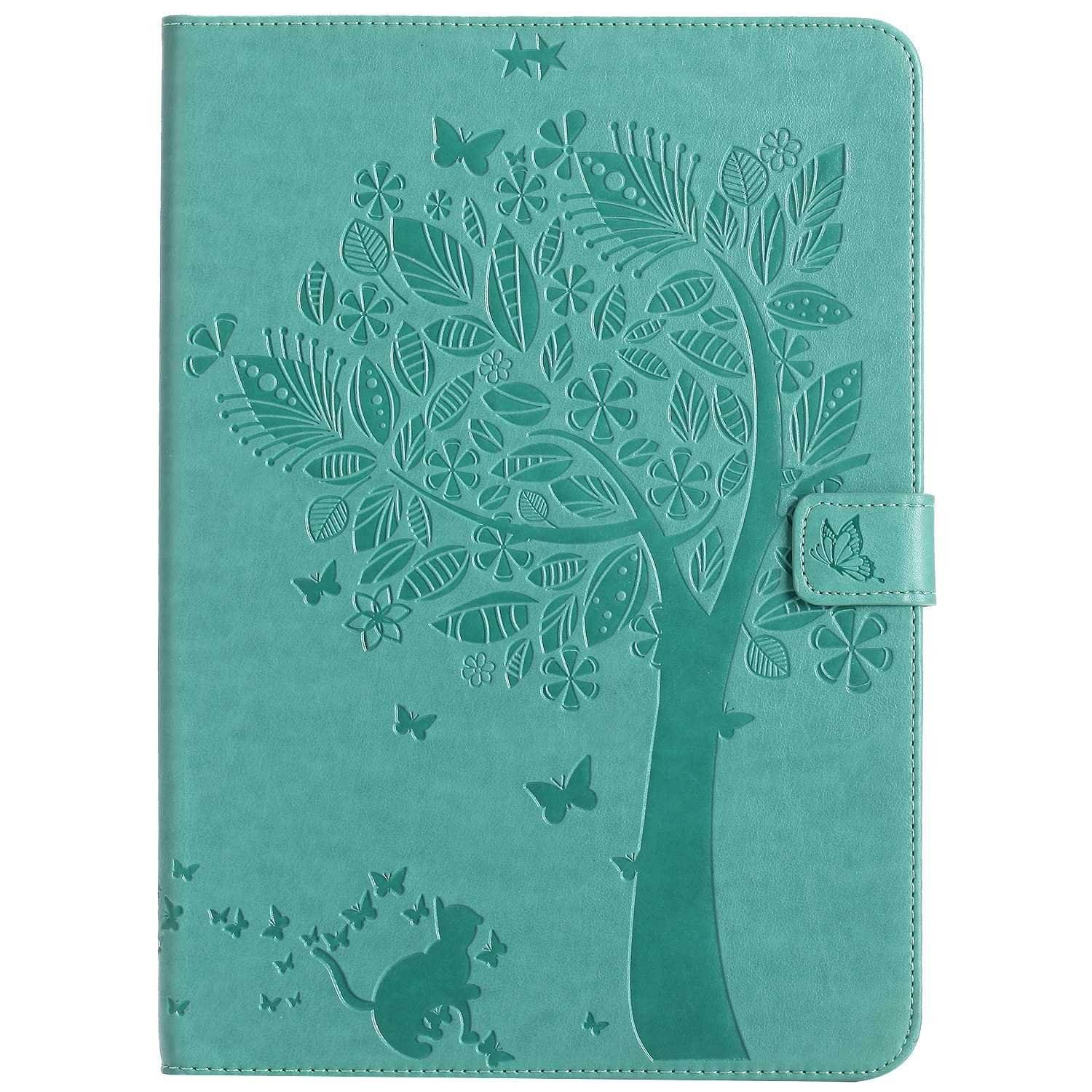 Bear Village iPad 2017 / iPad 2018 (9.7 Inch) Case, Leather Magnetic Case, Fullbody Protective Cover with Stand Function for Apple iPad 2017 / iPad 2018 (9.7 Inch), Green by Bear Village