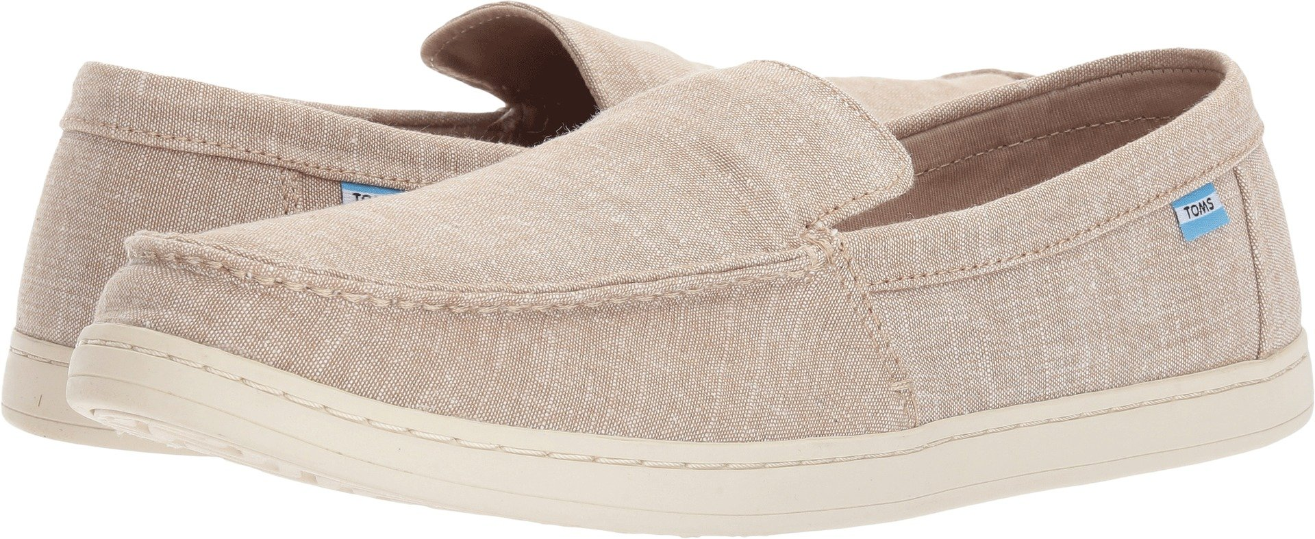 TOMS Men's Aiden Desert Taupe Striped Slub Chambray Oxford