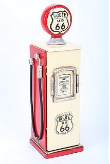 MEUBLE Range CD - pompe à essence bois rouge, style americain ...