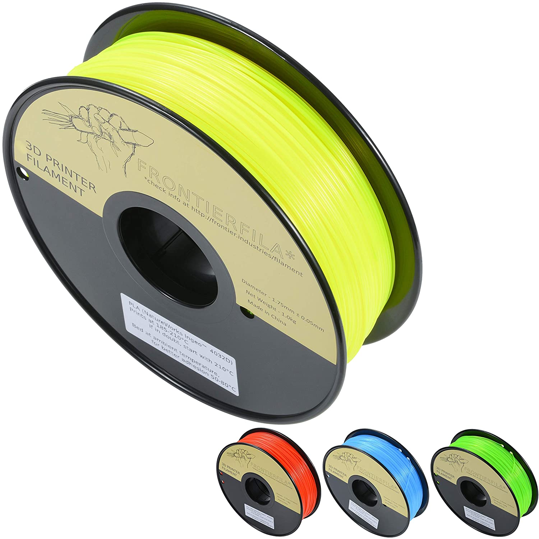 PLA fluorescente amarillo 1.75mm 1kg - Filamento para impresora 3D ...