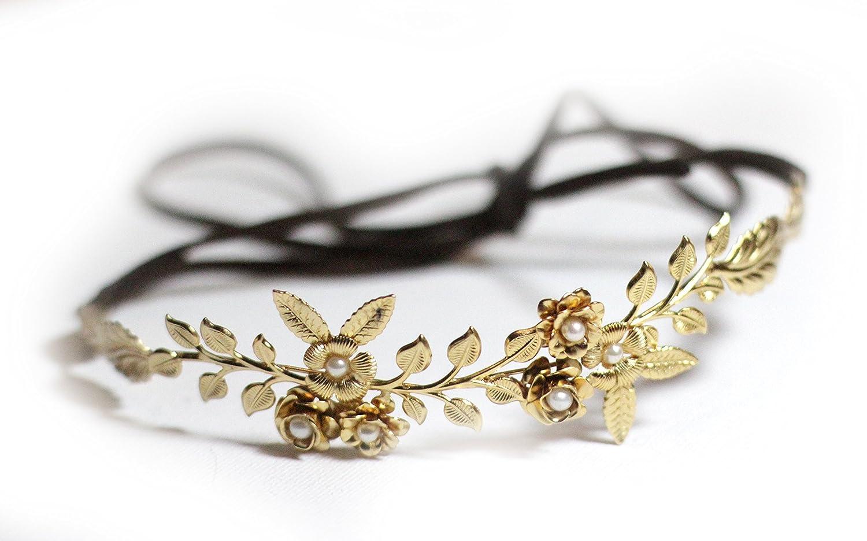 Amazon small flower crown flexible wire headband fwh54 handmade izmirmasajfo Images