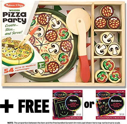 Amazon Com Pizza Party Wooden Play Set Free Melissa