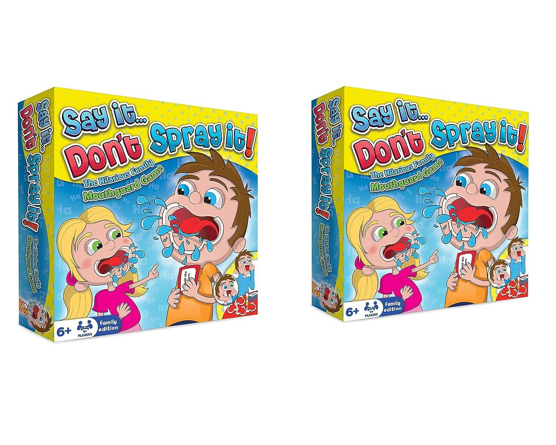 Sagen Sie es sprühen Sie es nicht Partei-Spiel - das vergnügliche Sprechen heraus Mundstück-Mundschutz-Brettspiel