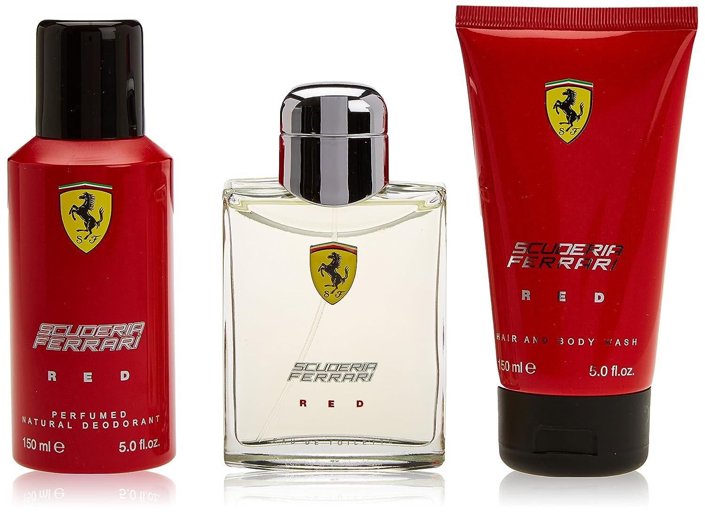 Ferrari, Scuderia Ferrari Red, set da regalo con Eau de Toilette per lui, 125ml Perfume Holding FRRREDM93125001