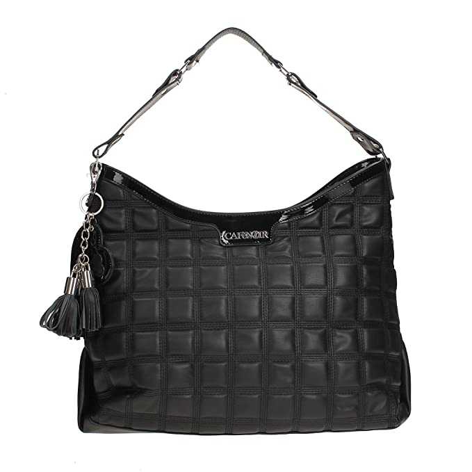 97e5930387 Borsa shopping trapuntata donna Cafè Noir BP003 nero: Amazon.it: Scarpe e  borse