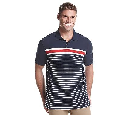 589470463f IZOD Men's Short Sleeve Striped Polo at Amazon Men's Clothing store: