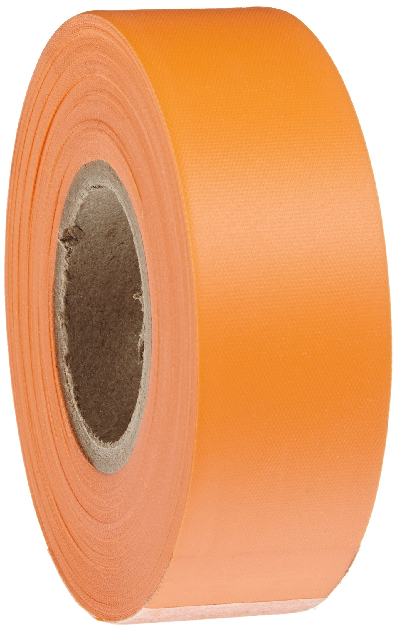 Brady Flourescent Orange Flagging Tape for Boundaries and Hazardous Areas - Non-Adhesive Tape, 1.188'' Width, 150' Length (Pack of 1) - 58352
